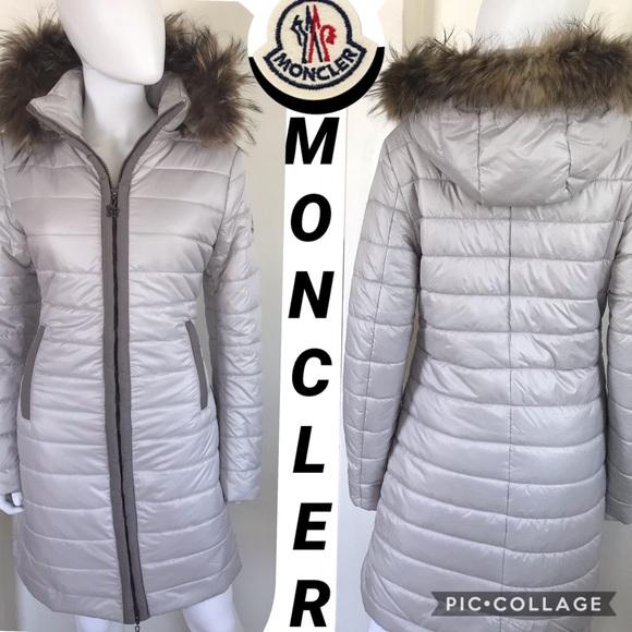 Moncler Genuine Fur Trimmed Hood Jacket Down Coat